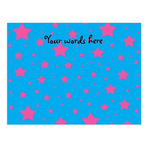 Estrellas del azul y del rosa de cielo tarjetas postales