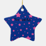 Estrellas del azul y del rosa ornamento para arbol de navidad