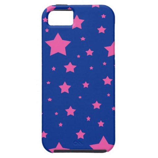 Estrellas del azul y del rosa iPhone 5 Case-Mate funda