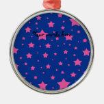 Estrellas del azul y del rosa ornamente de reyes