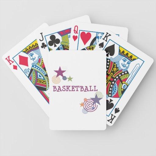 Estrellas del baloncesto y remolinos baraja de cartas