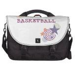 Estrellas del baloncesto y remolinos bolsas de portatil