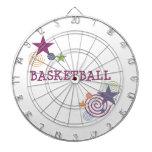 Estrellas del baloncesto y remolinos tablero de dardos