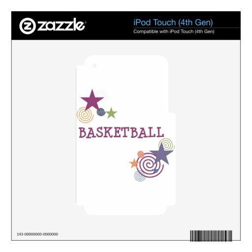 Estrellas del baloncesto y remolinos iPod touch 4G skins