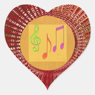 Estrellas del bebé de la danza, corazones n pegatina en forma de corazón