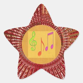 Estrellas del bebé de la danza, corazones n pegatina en forma de estrella