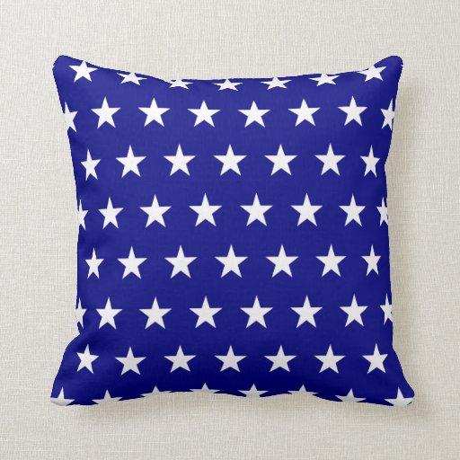 Estrellas del blanco de la marina de guerra cojines