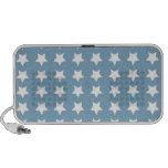 Estrellas del blanco en azul gris iPod altavoz