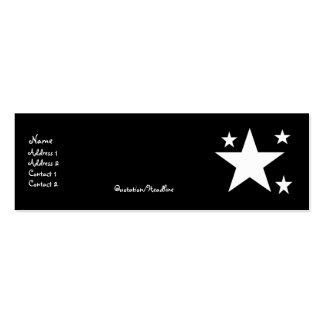 Estrellas del blanco en tarjetas negras del perfil plantillas de tarjetas personales