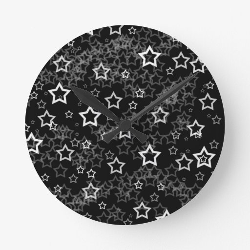 Estrellas del blanco reloj