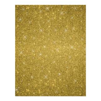 Estrellas del brillo del oro tarjeta publicitaria