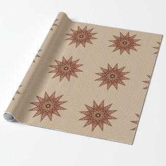 Estrellas del bronce papel de regalo