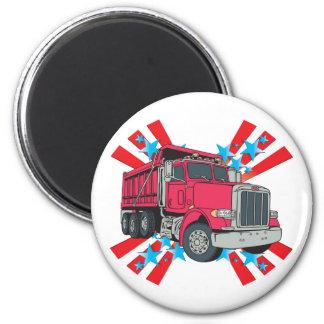 Estrellas del camión volquete imán redondo 5 cm