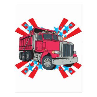 Estrellas del camión volquete postales