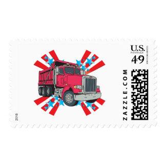 Estrellas del camión volquete sellos