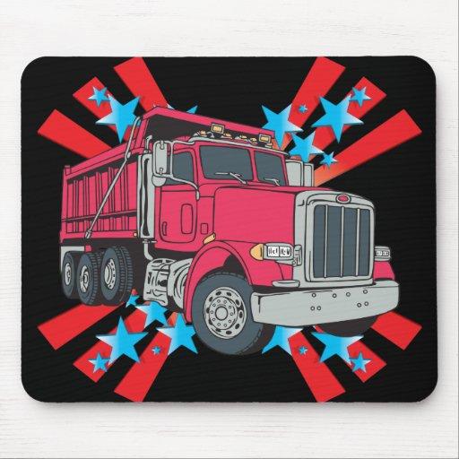 Estrellas del camión volquete alfombrillas de ratón