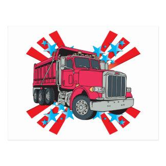 Estrellas del camión volquete tarjeta postal
