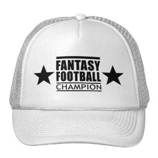 Estrellas del campeón del fútbol de la fantasía gorras de camionero