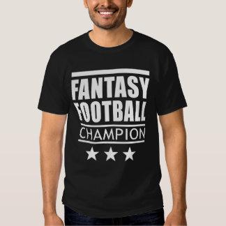 Estrellas del campeón del fútbol de la fantasía playeras