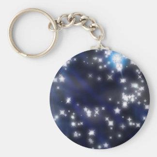 estrellas del centelleo llavero redondo tipo chapa