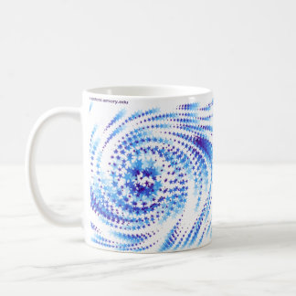 Estrellas del centro de la matemáticas taza básica blanca