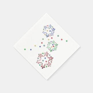 Estrellas del copo de nieve del navidad servilleta de papel