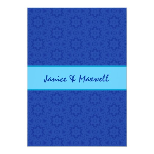 Estrellas del cordón del azul real y de la invitación 12,7 x 17,8 cm