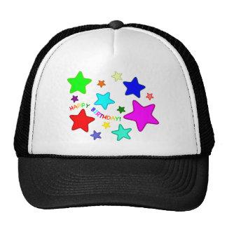 Estrellas del cumpleaños del arco iris gorras de camionero