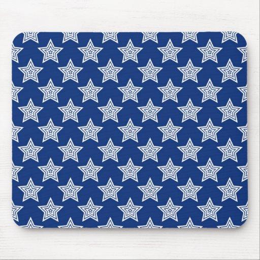 Estrellas del deslumbramiento en azul alfombrillas de ratones