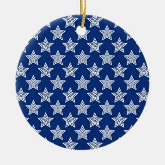 Estrellas del deslumbramiento en azul ornamento de reyes magos
