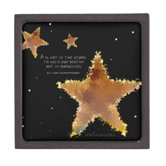 Estrellas del destino caja de recuerdo de calidad
