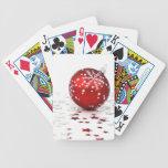 Estrellas del día de fiesta del navidad baraja cartas de poker