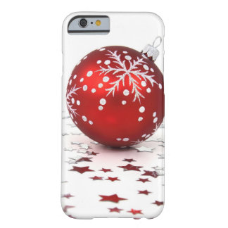 Estrellas del día de fiesta del navidad funda de iPhone 6 barely there