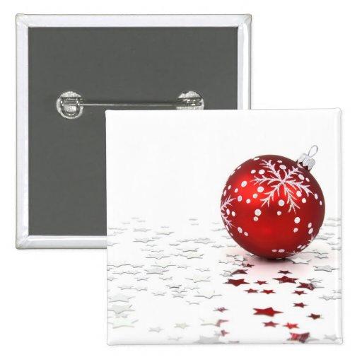 Estrellas del día de fiesta del navidad pin cuadrada 5 cm