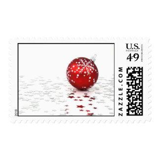 Estrellas del día de fiesta del navidad sellos postales