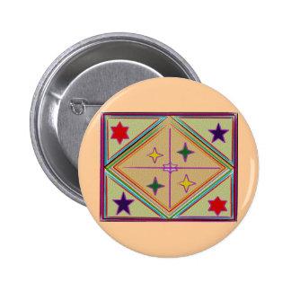 Estrellas del diamante n de NOVINO Serie curativa Pin