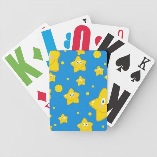 Estrellas del dibujo animado baraja de cartas