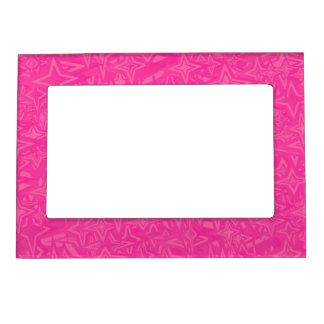 Estrellas del extracto en rosas fuertes marcos magneticos de fotos