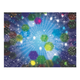 Estrellas del extracto tarjetas postales