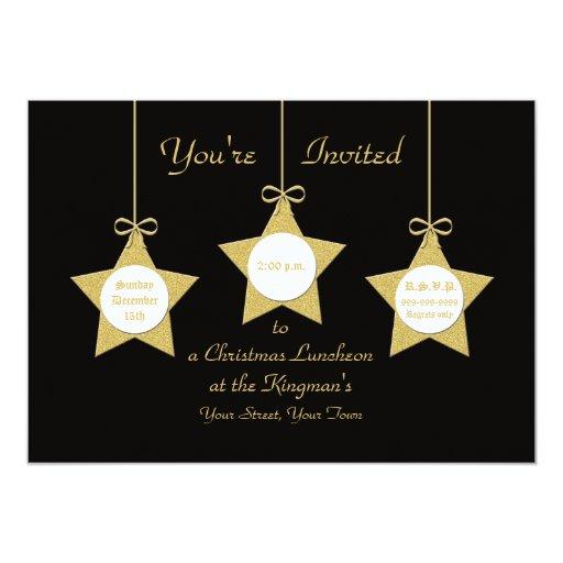 Estrellas del navidad de la invitación del