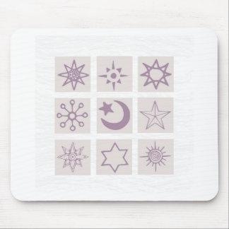 Estrellas del navidad tapetes de ratones