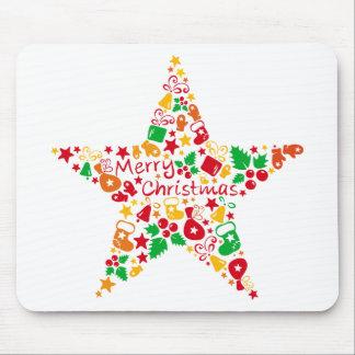 Estrellas del navidad alfombrillas de ratones