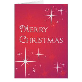 Estrellas del navidad tarjeta de felicitación
