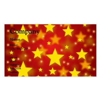 Estrellas del navidad tarjetas de visita