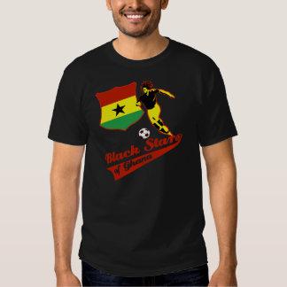 Estrellas del negro de Ghana Playera