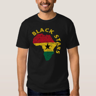 Estrellas del negro de Ghana Remera