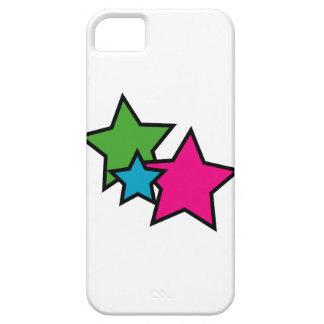Estrellas del neón iPhone 5 fundas