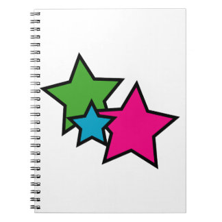 Estrellas del neón libretas espirales