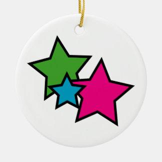 Estrellas del neón ornamentos de reyes magos