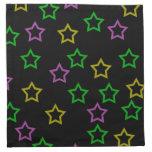Estrellas del neón servilletas de papel